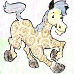 Horse with Spirals